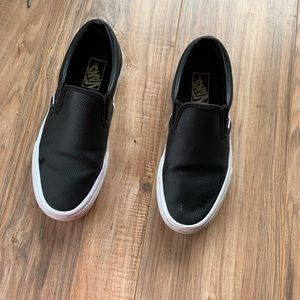 4/$25 Perforated vans slip on shoes